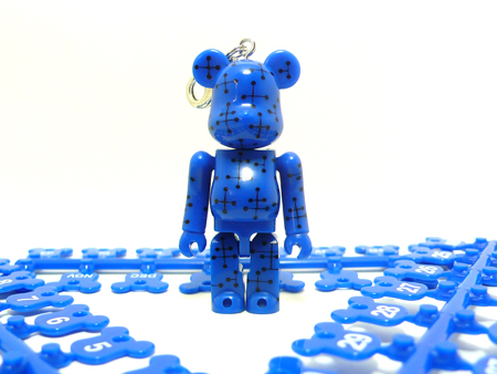 BE@RBRICK Birthday Happy EAMES BLUE 70%