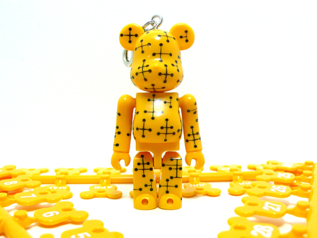 BE@RBRICK Birthday Happy EAMES YELLOW 70%