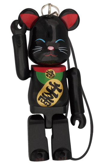 BE@RBRICK Birthday Happy 招き猫 黒 70%