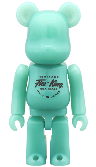 BE@RBRICK Fire-King 100% JADE-ITE