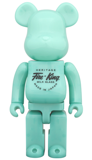 BE@RBRICK Fire-King 400% JADE-ITE