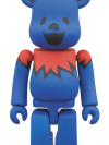 BE@RBRICK GRATEFUL DEAD DANCING BEARS 100% BLUE