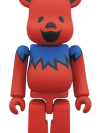 BE@RBRICK GRATEFUL DEAD DANCING BEARS 100% RED