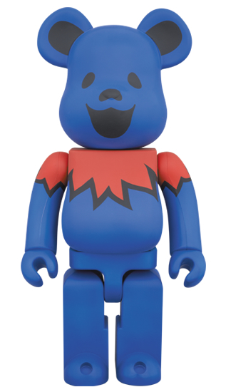 BE@RBRICK GRATEFUL DEAD DANCING BEARS 400% BLUE