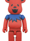 BE@RBRICK GRATEFUL DEAD DANCING BEARS 400% RED