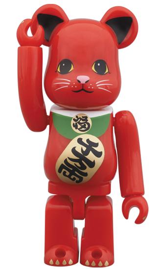 BE@RBRICK 招き猫 赤 100%