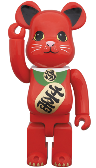 BE@RBRICK 招き猫 赤 400%