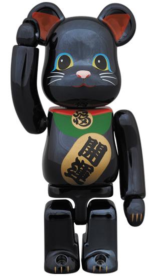 BE@RBRICK 招き猫 黒メッキ 100%