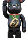 BE@RBRICK 招き猫 黒メッキ 400%