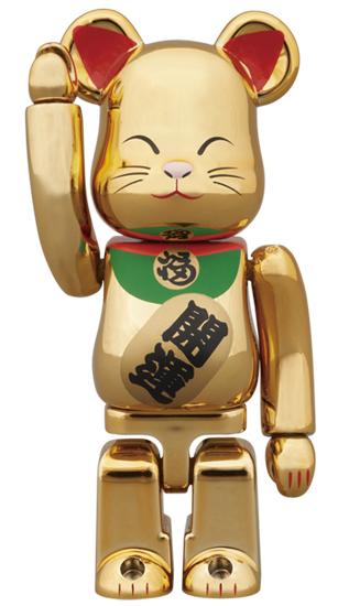 BE@RBRICK 招き猫 金メッキ 弐 100%