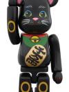 BE@RBRICK 招き猫 黒 弐 100%