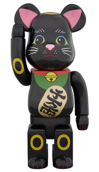 BE@RBRICK 招き猫 黒 弐 400%