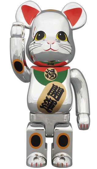 BE@RBRICK 招き猫 銀メッキ 400%