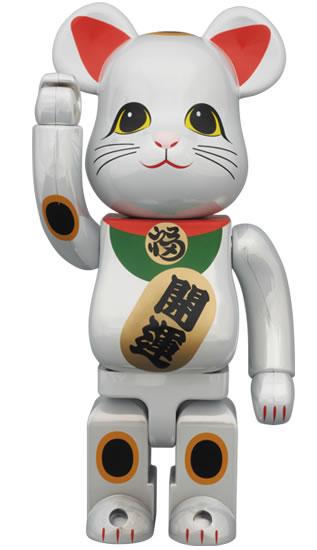 BE@RBRICK 招き猫 白メッキ 400%