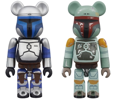 BE@RBRICK STAR WARS JANGO FETT & BOBA FETT 2pc