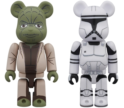 BE@RBRICK STAR WARS YODA & CLONE TROOPER 2pc