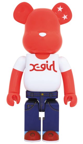 BE@RBRICK X-girl 20th Anniversary 1000%